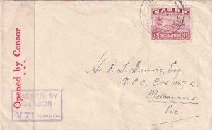 1941, Nauru to Melbourne, Australia, Censored (C4194)
