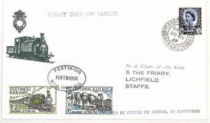 AJ106 GB WALES REGIONAL 1969 *Festiniog Railway* Stamps FDC {samwells-covers}