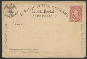 MEXICO early 2c postcard unused............................................10443