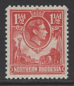 NORTHERN RHODESIA SG29 1938 1½d CARMINE-RED MNH