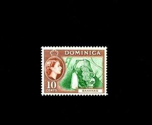 DOMINICA - 1957 - QE II - BANANAS - WORKERS - # 159 - SCAN B - MINT MNH SINGLE!
