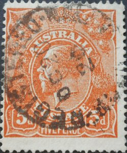 Australia 1920 GV 5d with break in right frame variety used