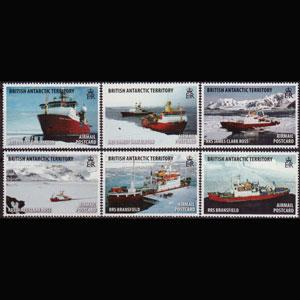BR.ANTARCTIC TERR. 2011 - Scott# C5-10 Ships Set of 6 NH