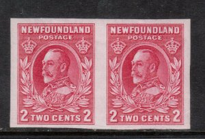 Newfoundland #185c Very Fine Never Hinged Imperf Pair