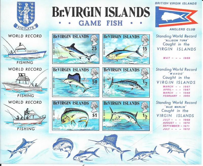 British Virgin Islands #248a  Game Fish S/S (MNH) CV $13.50