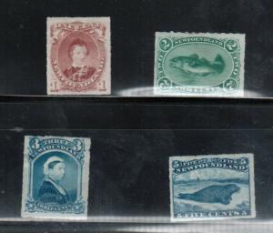 Newfoundland #37 - #40 Mint Fine - Very Fine Original Gum Hinged Set