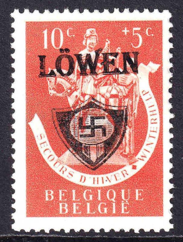 BELGIUM B332 WW2 LÖWEN OVERPRINT OG NH U/M F/VF BEAUTIFUL GUM