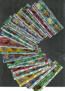 Cook Islands Sc#564-581 M/NH/VF, 18 Strips/4, Cv. $51.40