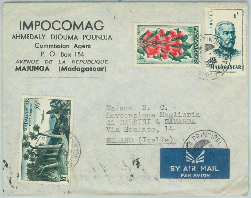 67326 -  FRENCH COLONIES: MADAGASCAR - Postal History - COVER to ITALY  1959
