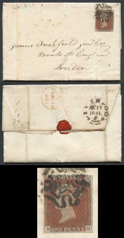 1841 Penny Red (BH) Plate 13 in a Rich Shade on Cover
