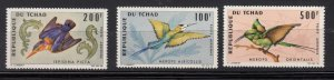 J28371, 1966-7 chad with hv of set mnh #c28-9,c31 500 fr bird