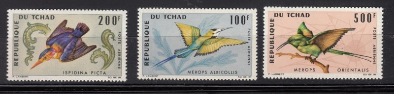 J28371, 1966-7 chad with hv of set mnh #c28-9,c31 500 fr bird