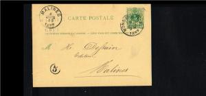 1882 - Belgium Postcard - From Mons to Malines [B09_109]