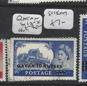 QATAR   (P1804B)  ON   GB  QEII  CASTLES  SG 13-5   VFU