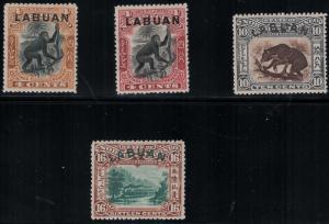 Labuan 1899-1901 Set SC 96-99 Set LH CV $152.50