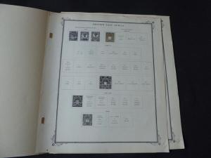 British East Africa 1890-1903 Stamp Collection Scott on Album Pages