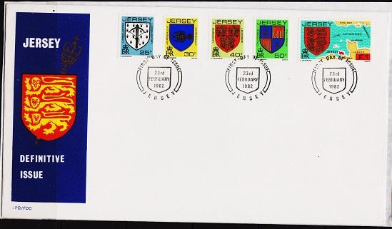 Jersey. 1981 FDC. Family Crests. Fine Used