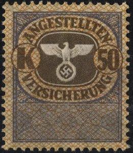 Stamp Germany Revenue WW2 3rd ReichWar Era Medical Insurance K50 MNH
