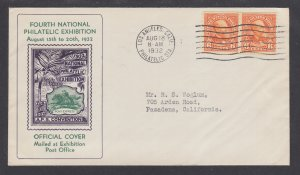 US Planty 723-2b FDC. 1932 6c Garfield coil, Official APS Convention Cover, VF