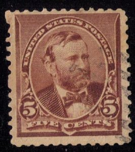 US Scott #223 Chocolate Grant Used VF