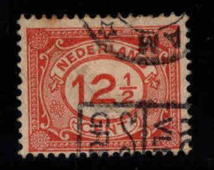 Netherlands Scott 108 used surcharged stamp,