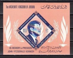 Jordan, Scott cat. 509 A. Memorial s/sheet for President John Kennedy. *