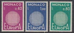 Monaco 768-70 Europa mnh