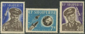 ALBANIA Sc#654-656 1963 1st Group Space Flight Complete Mint OG NH