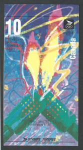 Canada MNH Booklet uni bk144b open cover  sc # 1403b