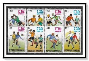Rwanda #579-586 Soccer Championship Set MNH