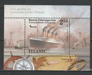 Bosnia and Herzegovina 2012 Titanic MNH Block