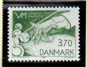 Denmark Sc 750 1984 Billiards Championships stamp mint NH