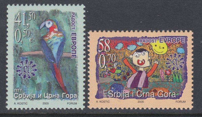 Serbia 312-313 Europa MNH VF