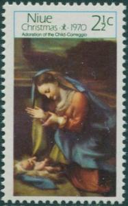 Niue 1970 SG154 2½c Christmas MLH