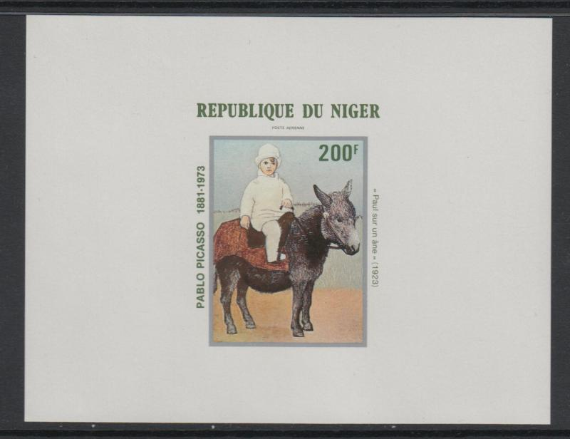 XG-S247 PAINTINGS - Nigeria, 1981 Picasso Centenary Deluxe Proof MNH Sheet