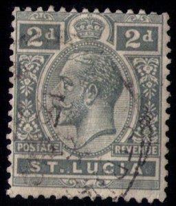 St.Lucia SG 80 USED KGV 1912 F-VF