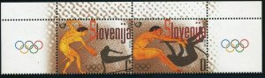 Slovenia 566 ab pair,MNH. Olympics Athens-2004.Discus thrower,gymnast,Long jump,