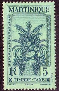 Martinique #J26 Postage Due. Unused, HR, Sm Thin