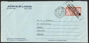 TOKELAU 1972 formular aerogramme PAQUEBOT use at SUVA, Fiji................74904