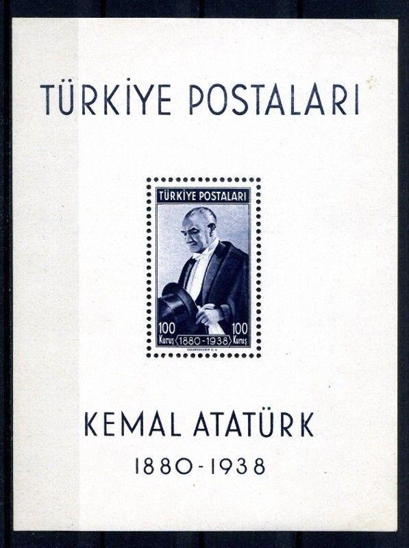 Turkey Stamps # 841 XF LH S/S
