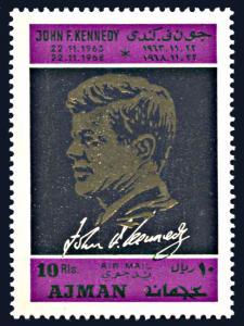 Ajman Michel 325A, MNH,5th Anniversary Death of John F. Kennedy