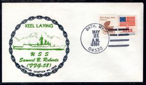 US USS Samuel B Roberts Keel Laid 1984 Ship Cover