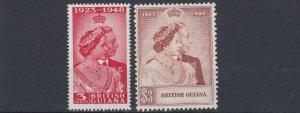 BRITISH GUIANA     1948 - 49  ROYAL SILVER WEDDING  MH