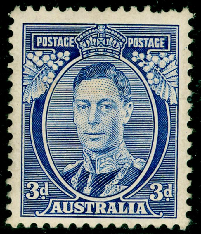 AUSTRALIA SG168b, 3d Blue Die 1a, M MINT. Cat £150.