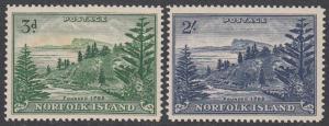 Norfolk Island 23-24 MVLH (see Details) CV $31.00