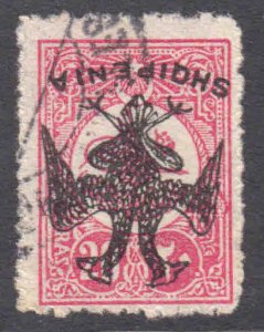 ALBANIA 6 UNLISTED INVERTED OVERPRINT $250 SCV FOR NORMAL F-VF