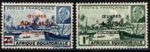 French Equatorial Africa #B36-7 MNH (Z9751)