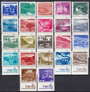 Israel #461-74 MNH With Tabs CV $11.00 (Z5392)