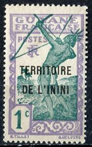 Inini; 1932; Sc. # 1; */MH Single Stamp