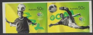 AUSTRALIA SG2647/8 2006 WORLD CUP SELF ADHESIVE (EX BOOKLET) MNH